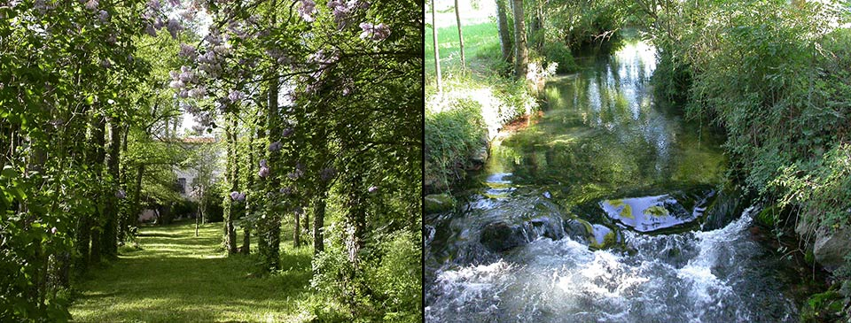 Gîte le Camarat et la rivière le Durzon