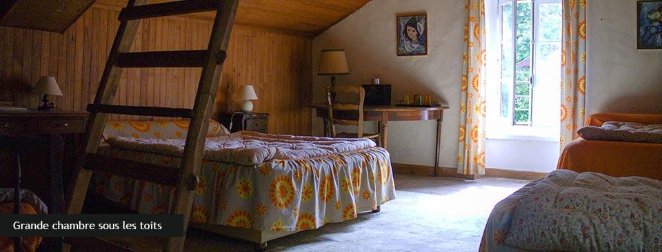 La chambre sous les toits